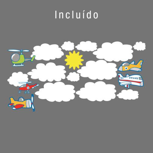 Aviões Infantis em Vinil Autocolante Detalhes