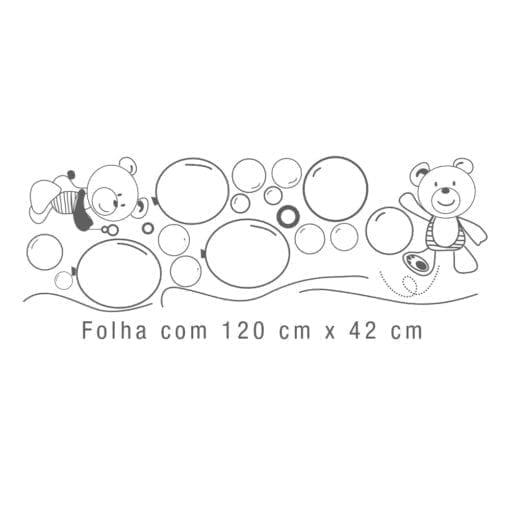Decoração de Parede Ursinhos e Balões Detalhe