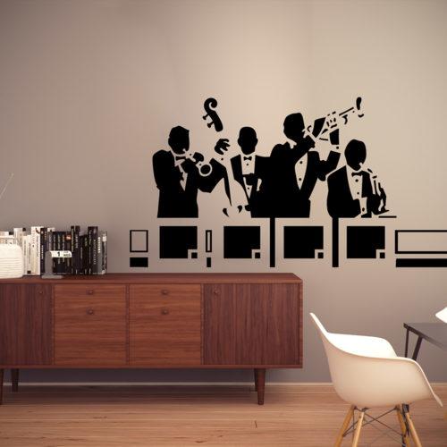 Jazz Band em Vinil Decorativo