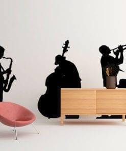 Jazz Músicos em Vinil Autocolante Decorativo