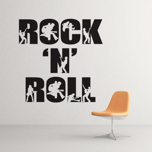 Rock n´ Roll em Vinil Autocolante
