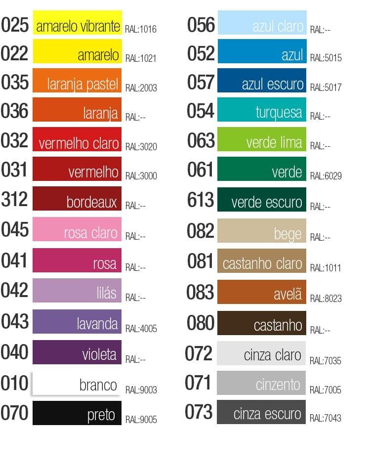 tabela cores