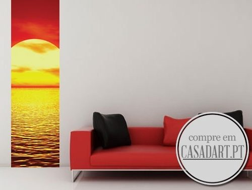 Sea Sunset Poster Sticker