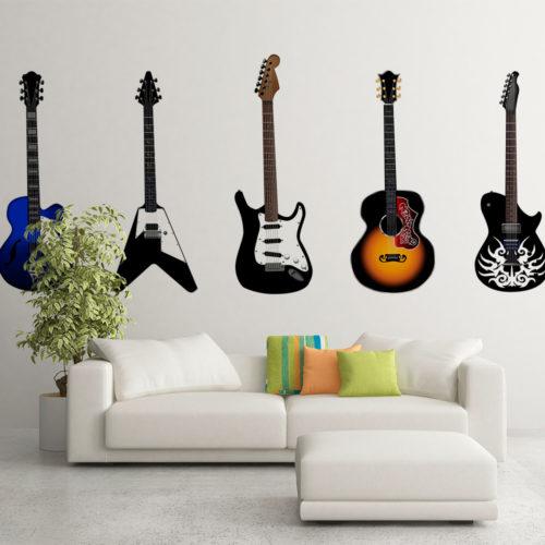 Guitarras Impressas em Vinil Autocolante