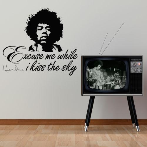 Jimmy Hendrix While I Kiss the Sky em Vinil Autocolante
