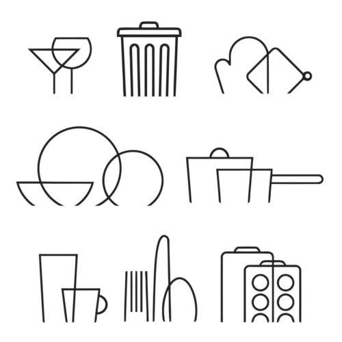 Símbolos para Cozinha em Vinil Autocolante Detalhe