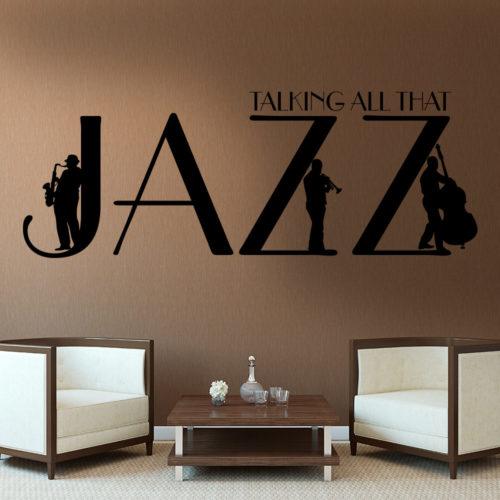Talking All That Jazz em Vinil Autocolante