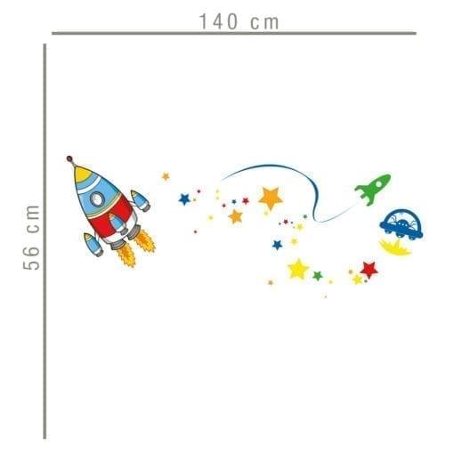 Vinil Decorativo Espaço Infantil Dimensões