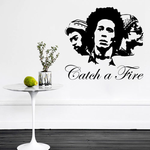 Vinil de Parede Bob Marley Catch a Fire