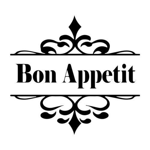 Bon Appetit Vinil Autocolante Detalhe