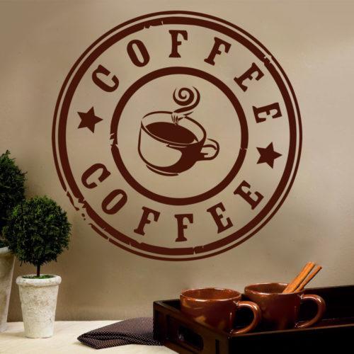 Café em Vinil Parede para Decoração de Cozinhas