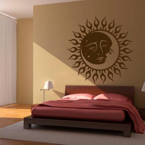 Sol e Lua Tribal Vinil Autocolante