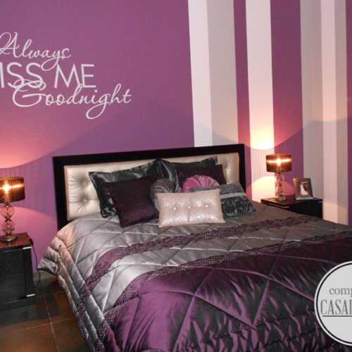 Always Kiss me,Goodnight wall quote sticker