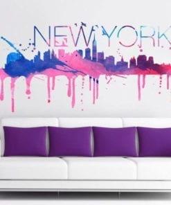 New York Skyline Watercolor