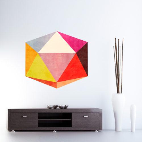 3D Retro Moderno autocolantes decorativos