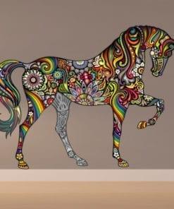 Cavalo Colorido vinil autocolante