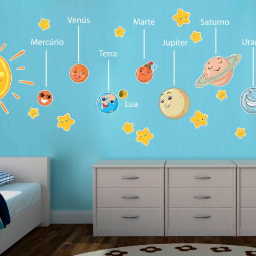 Decoração Infantil Sistema Solar