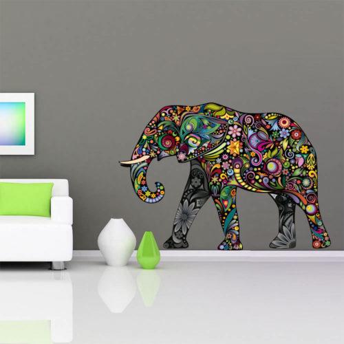 Elefante Colorido vinil autocolante