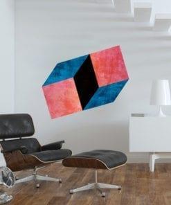Geométrico Retro Moderno decoração vinil