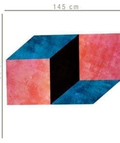 Geométrico Retro Moderno decoração vinil Dimensões