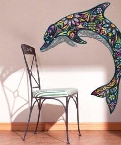 Golfinho Colorido vinil autocolante