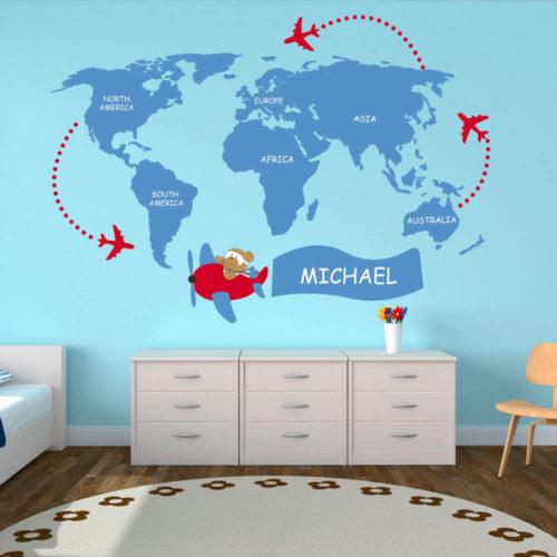 Mapa Infantil decoração de paredes