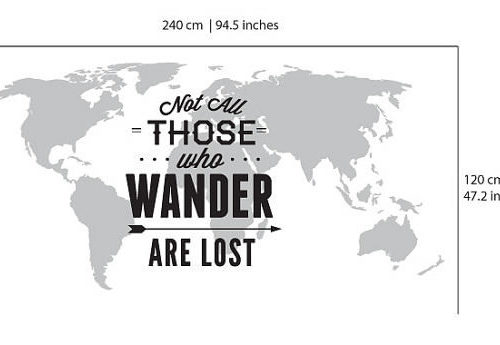 Mapa Mundo Not All Those Who Wander Are Lost Detalhes