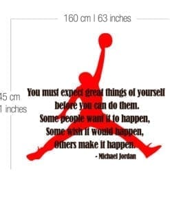 Michael Jordan com Citação Dimensões