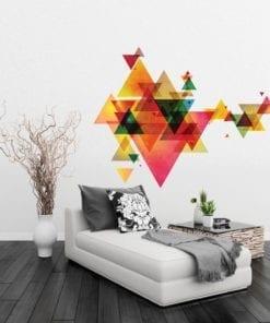 Triângulos Futuristas decoração de paredes
