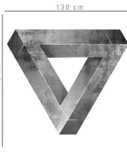 Triângulo Impossível vinil decorativo Dimensões