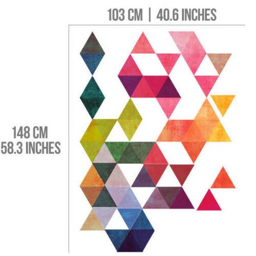 Triangulos Retro Modernos vinil autocolante Dimensões