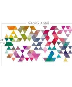 Vinil Parede Triangulos Retro Coloridos Detalhe