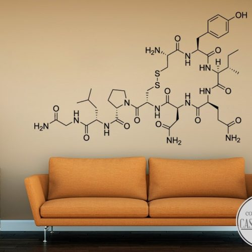 oxytocin molecule wall sticker
