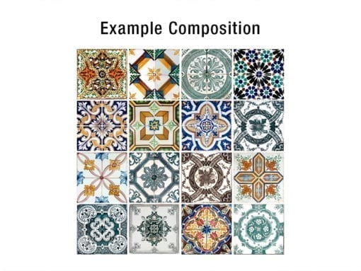 Azulejos Portugueses Autocolantes - Composição