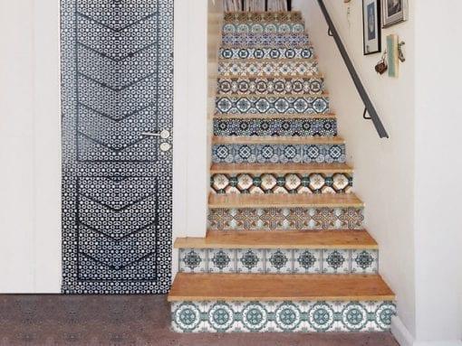 Azulejos Portugueses Autocolantes - Escadas