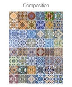 Azulejos Tradicionais Portugueses Autocolantes - Composição