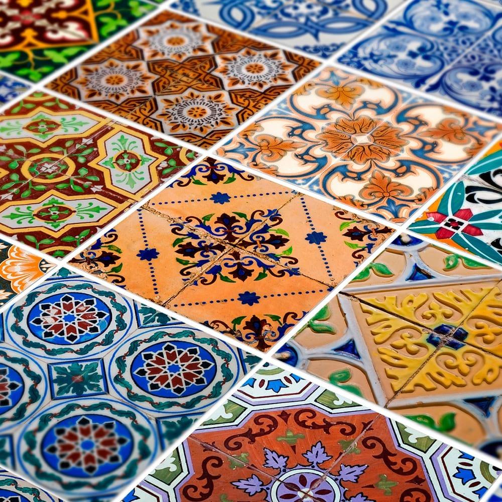 Azulejos tradicionais portugueses autocolantes pack de 48 for Azulejo 15x15