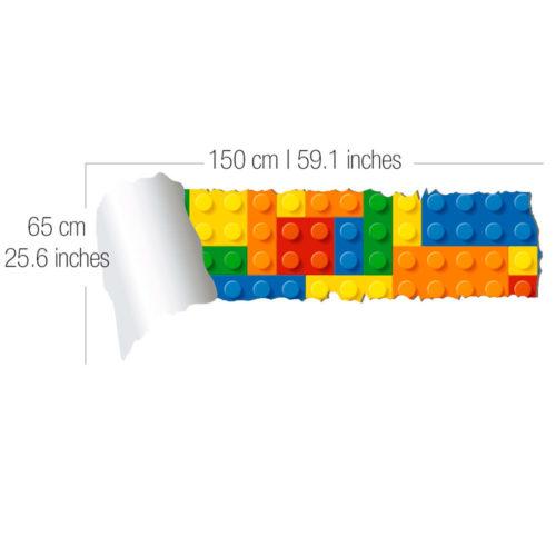 Lego Efeito Parede Rasgada Vinil Autocolante Dimensões
