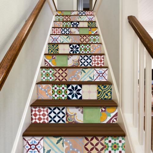 Patchwork Argentino decoração de azulejos