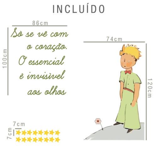 Vinil Infantil O principezinho Dimensões