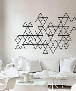 Vinil de Parede Padrões Triangulares