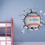 Baseball Breaking Wall Stickers