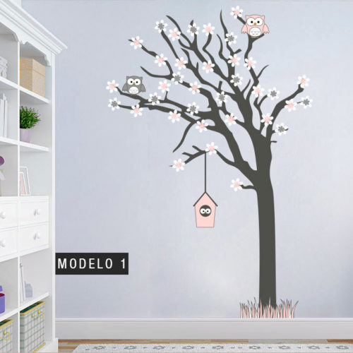 Árvore Família de Mochos vinil autocolante Modelo 1