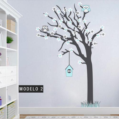 Árvore Família de Mochos vinil autocolante Modelo 2