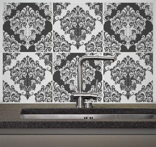 Damask Victorian revestimentos azulejos