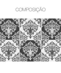 Damask Victorian revestimentos azulejos Composição