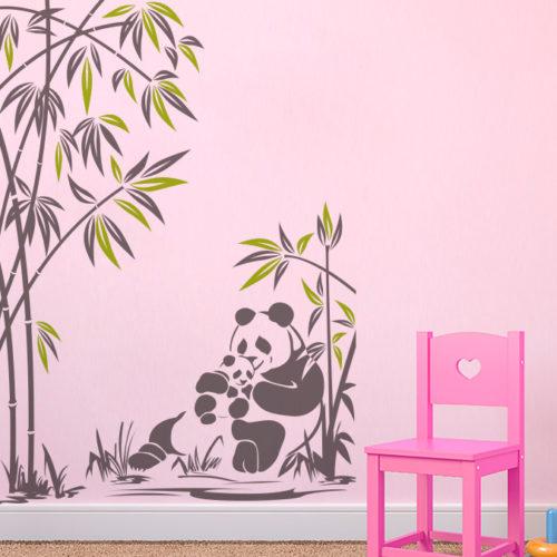 Decoração de Paredes Panda e sua Cria
