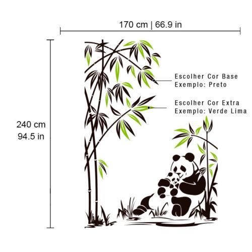 Decoração de Paredes Panda e sua Cria Dimensões
