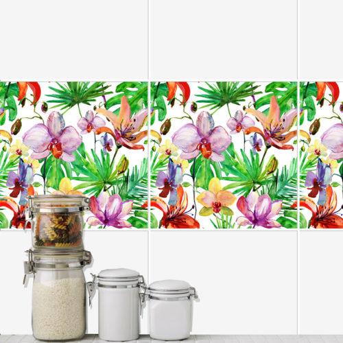 Flores Aguarela decoração de azulejos
