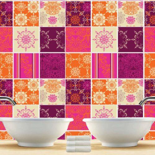 Indian Patchwork azulejos autocolantes
